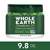 WHOLE EARTH SWEETENER Stevia Leaf and Monk Fruit Sweetener, Erythritol Sweetener, Sugar Substitute, Zero Calorie Sweetener, 9.8 Ounce Jar (Color: Limited Edition, Tamaño: New Version)