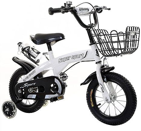 ZHEN GUO - Bicicleta infantil de altura ajustable con ruedas de ...
