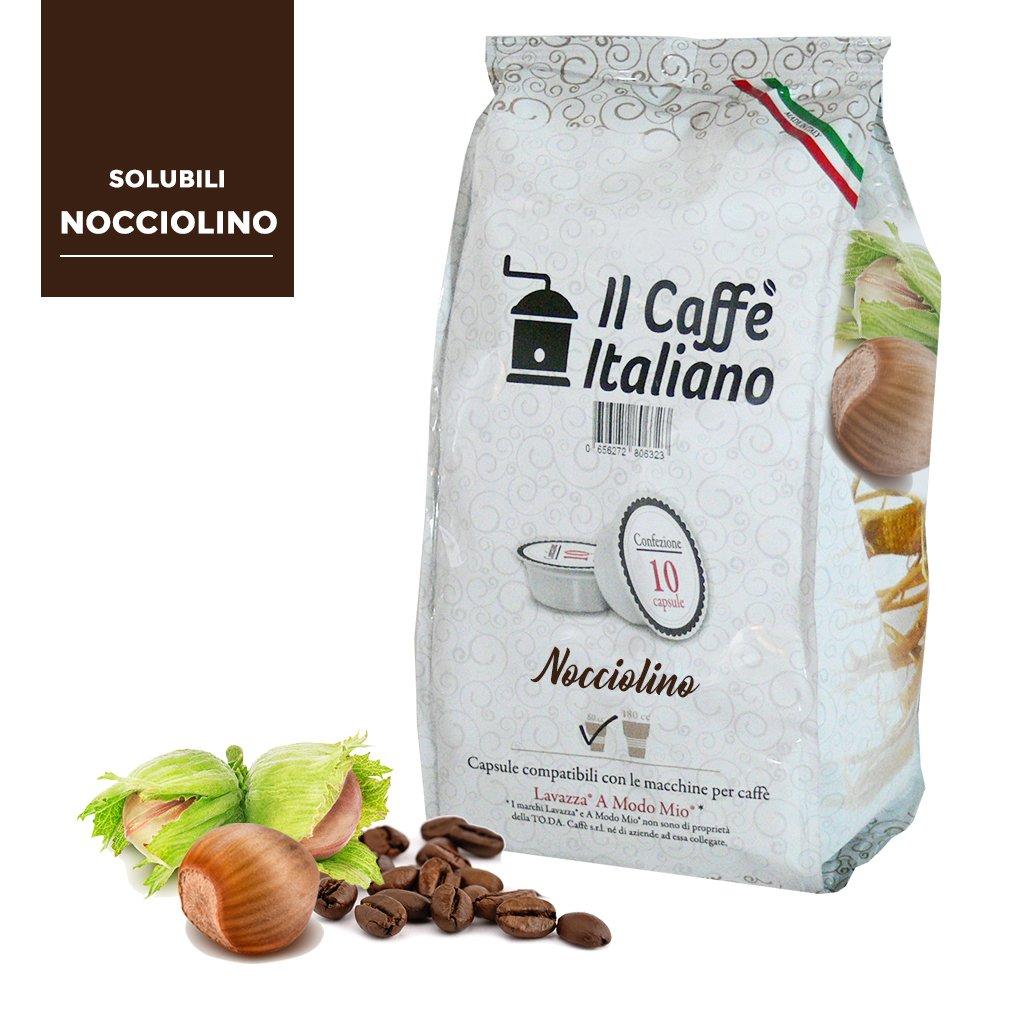 80 cápsulas de café compatibles A modo mio - Nocciolino- 80 Cápsulas compatible con maquinas A modo mio - Il Caffè italiano: Amazon.es: Alimentación y ...