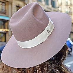 a5efef92861df9 RACEU ATELIER Pink Queen Hat - Wide Brim Fedora Hat - 100% Wool Felt -