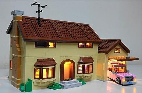 lego lighting. Simpson\u0027s House Lighting Kit For Lego 71006 Set (LEGO Not Included) By Brick