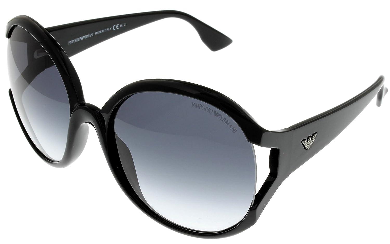 e8867315f79b Amazon.com: Emporio Armani Sunglasses Womens EA9612/S D28 Black: Clothing