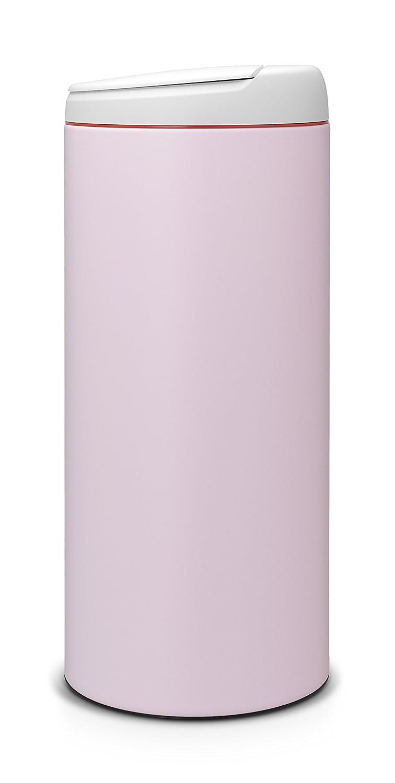 Cubo de Basura Tapa Gris Oscuro 30 l Cuerpo de Color Negro Antracita Brabantia FlipBin 106927