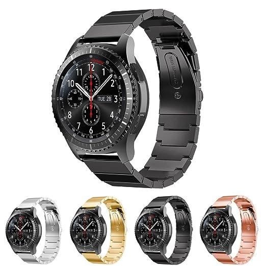 StrapsCo Bracelet en Acier Inoxydable pour Samsung Gear S3 Classic/Frontier