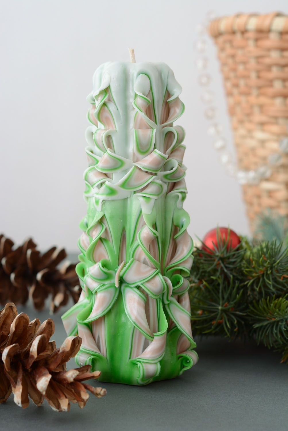 Large Carved Candle by Handmade (Image #1)