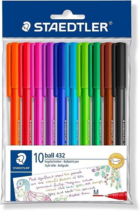 STAEDTLER 43235MPB10 - Bolígrafos, Colores Surtido, Pack de 10 ...