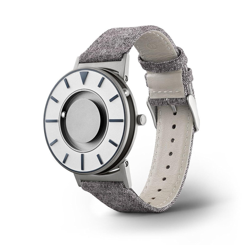 eone BRADLEY COMPASS Graphite Unisex Uhr - Leder- Stoff Armband grau BR-COM-GRPT