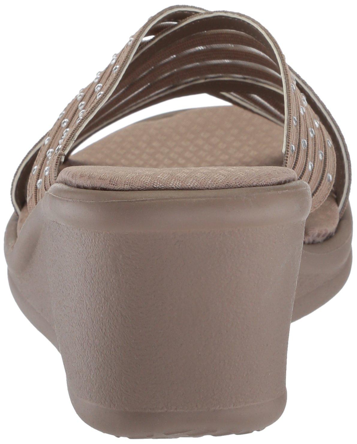 19b6f21381ee5 Skechers Rumblers-Flashies Sandalia deslizante para mujer Gris pardo