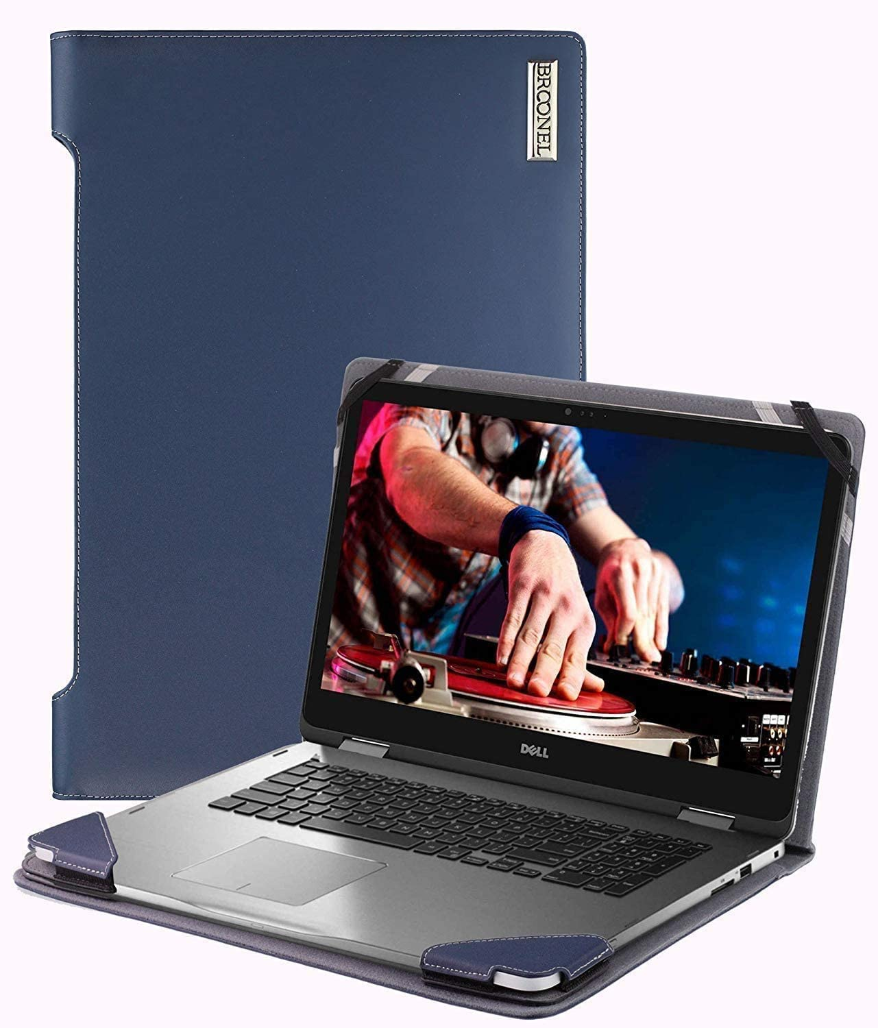 Broonel - Profile Series - Blue Leather Laptop Case - Compatible with The Lenovo Yoga S940 13.9 Inch