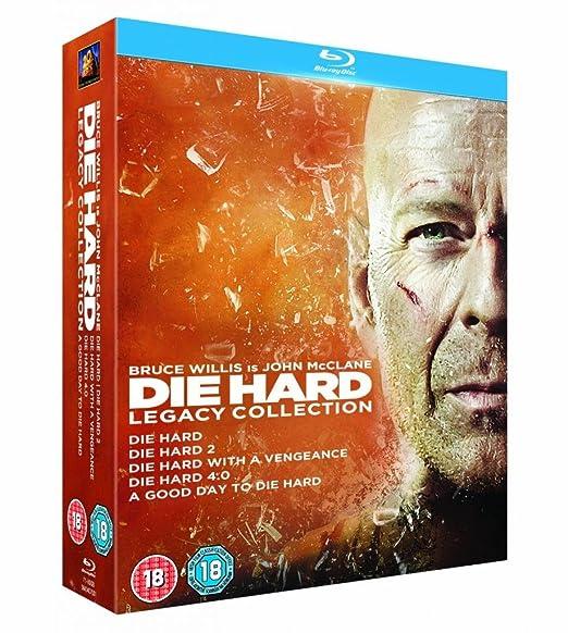Die Hard Complete Movies 1, 2, 3, 4, 5 Film 6 Discs Blu Ray Collection Box set: Die Hard / Die Harder / Die Hard with a Vengeance / Die Hard 4.