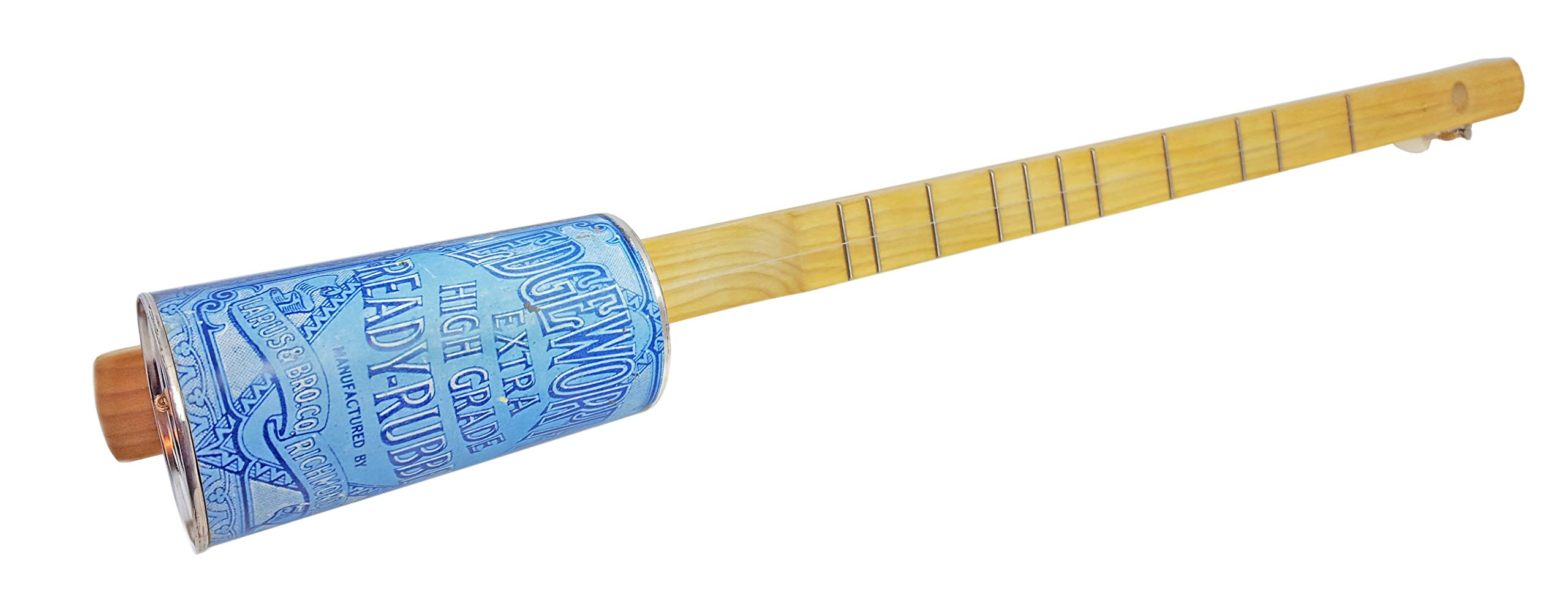 ''Edgeworth Tobacco'' One-String Acoustic Canjo by The American Canjo Company - features vintage coffee can design
