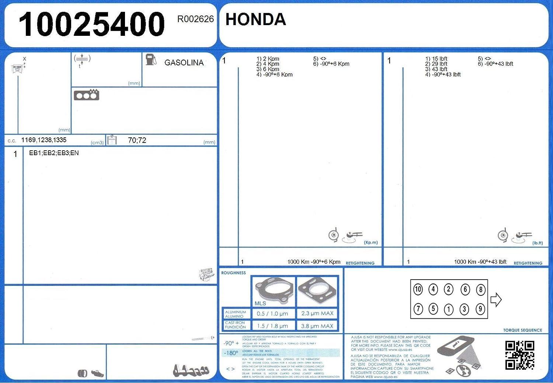 Ajusa 50070200 Juego Completo de Juntas para el Motor