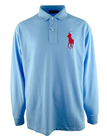 Polo Ralph Lauren Men s Big And Tall Classic Fit Long Sleeve Big Pony Polo  Shirt- 7e987d53bc09