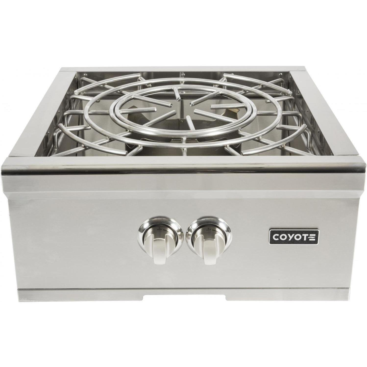 Coyote 24 Inch Built-in Power Burner, Propane Gas- C1PBLP