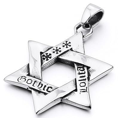 Homme acier inoxydable Croix Collier Chaîne Argent//Pendentif en or cadeau Lucky Bijoux