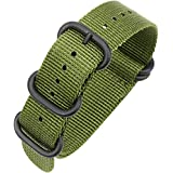 18mm 20mm 22mm 24mm Nylon Watch Straps Nato Strap Canvas Fabric With Stainless Steel Buckle Watch Bands