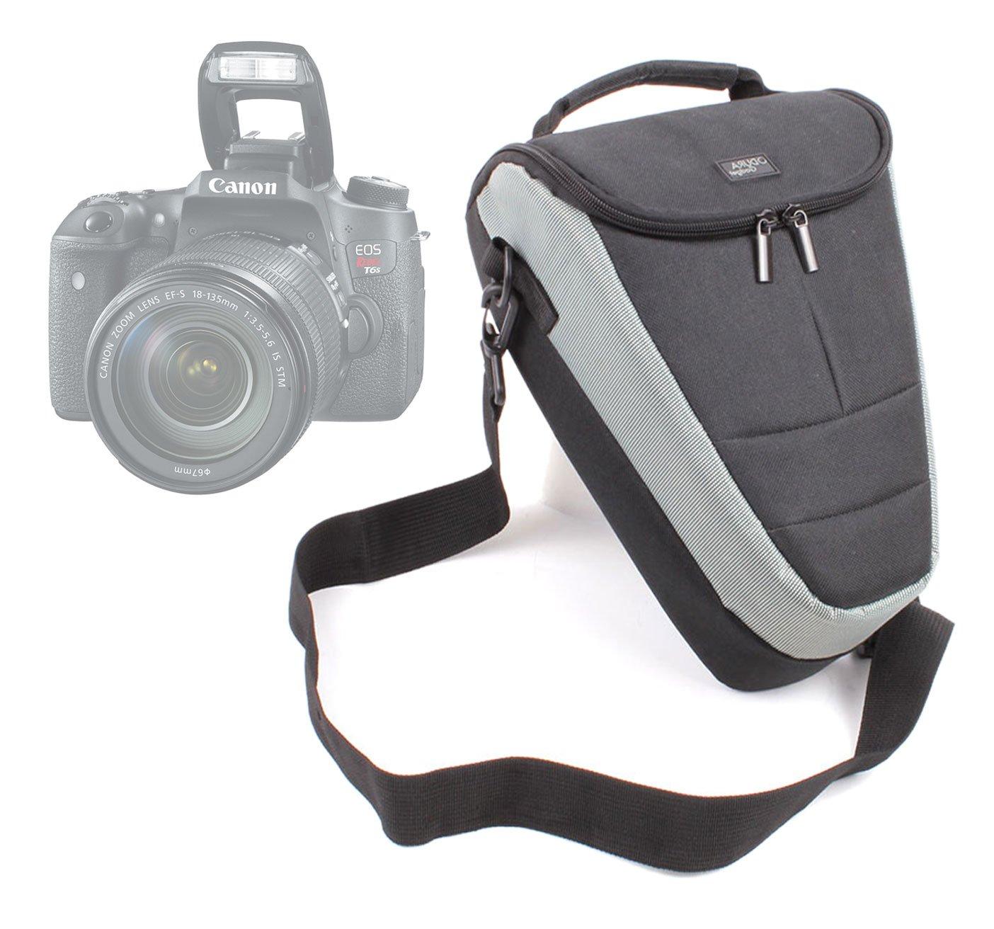 Housse é tui de transport pour appareils photo SLR Canon EOS 760D, 750D, Rebel T6s & T6i, Pentax K-S2, K-3 et K-50 et leurs accessoires + bandouliè re BONUS, par DURAGADGET K-3 et K-50 et leurs accessoires + bandoulière BONUS
