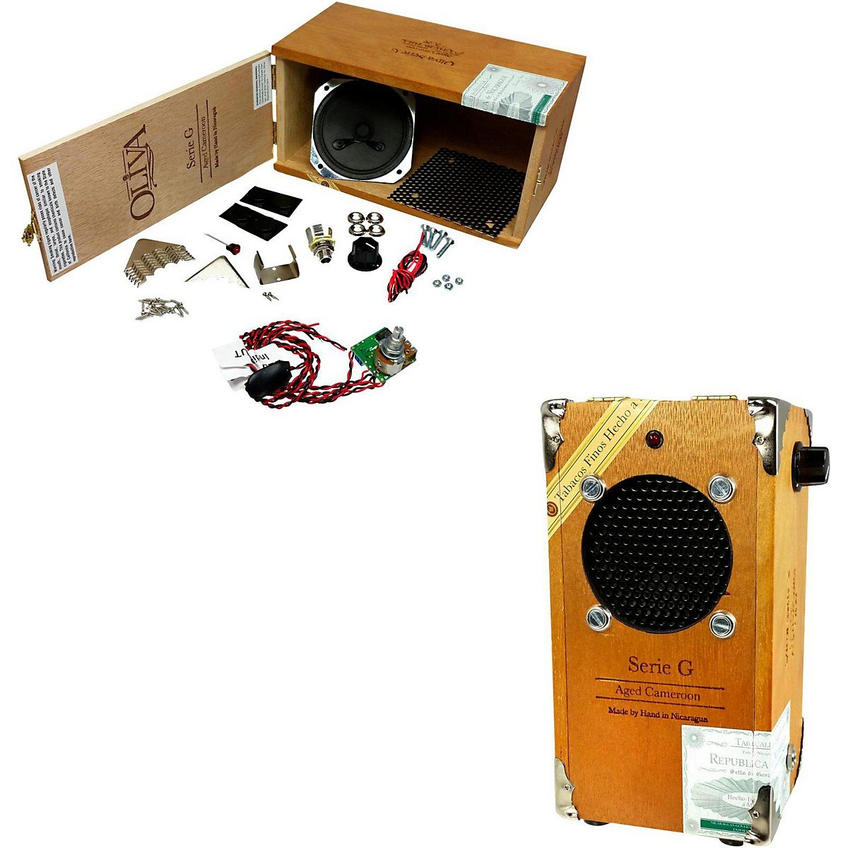 Cigar Box Amplifier Kit with Oliva G Cigar Box, Hardware and How-To Guide! C. B. Gitty Crafter Supply 52-003-02