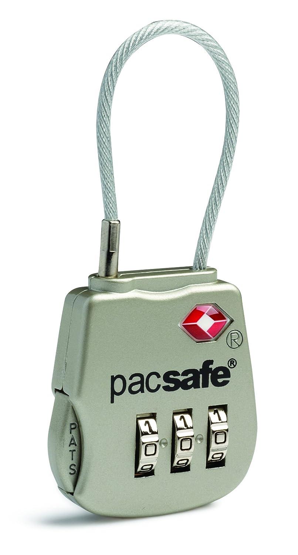 Pacsafe Prosafe 800 TSA Accepted 3-Dial Cable Lock, Silver Outpac Designes Inc.- PACSAFE 10250705