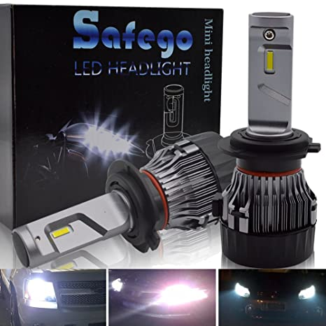 H7 LED Faro Bombillas Kit - Safego 60W LED CREE Chips 10000LM LED Coche Kit de