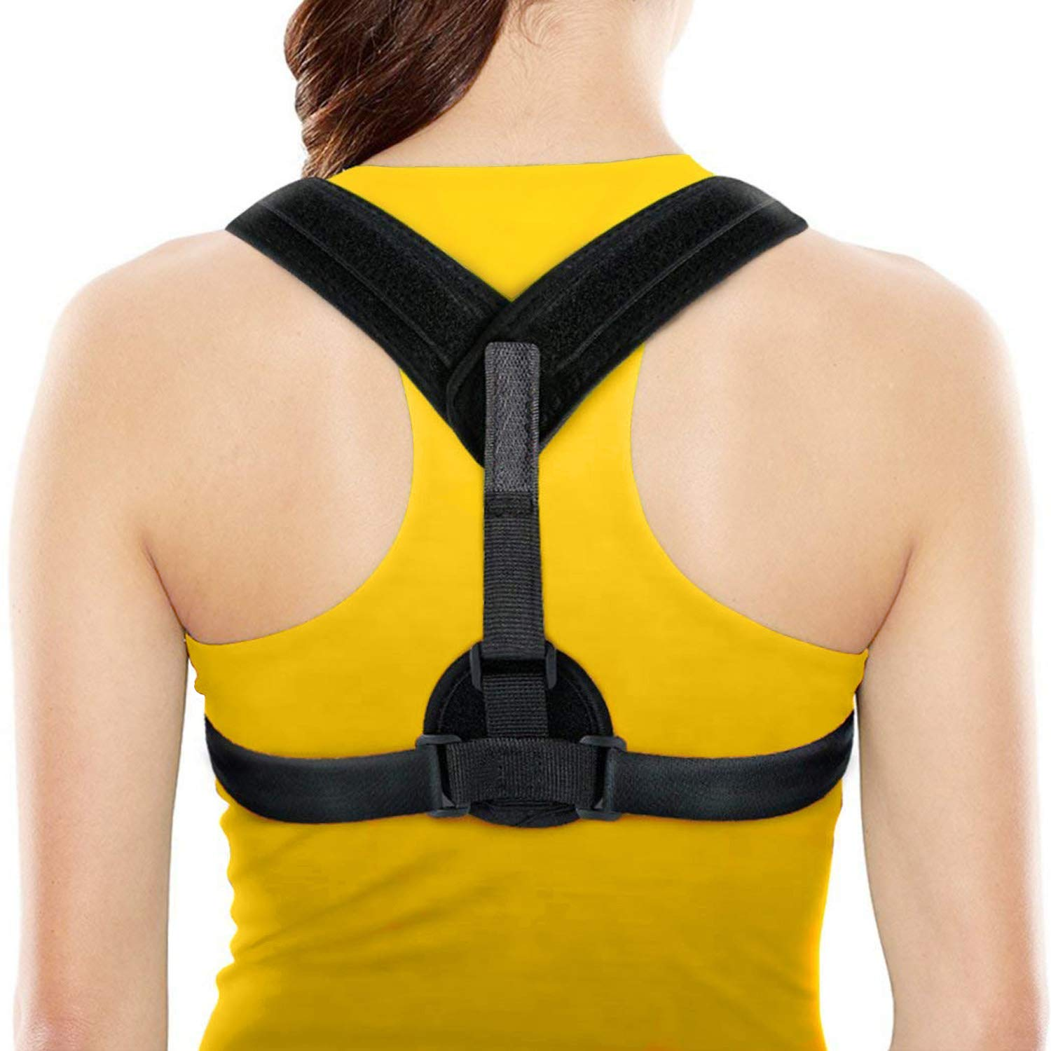 Mxpillar Posture Corrector for Women Men,Adjustable-Free Size Straps,Comfortable and Effective Physical Therapy Clavicle Brace-Upper Back,Shoulder Pain Relief