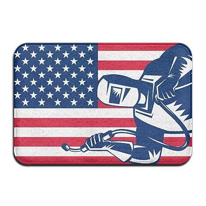 Bandera de Estados Unidos soldador al aire libre Mat