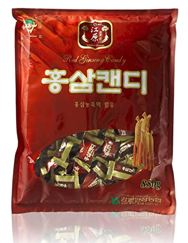 Gangwon Insam, Korean Red Ginseng Candy 850g 29.9oz, Cultivated Korean Ginseng from Gangwon-do, Highest Quality Ginseng