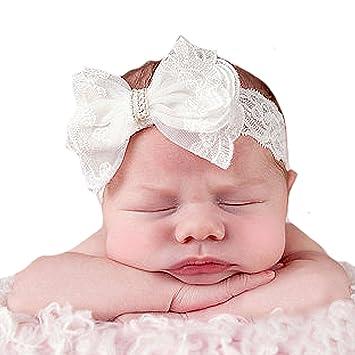 Amazon.com: miugle bebé recién nacido encaje cintas para el ...