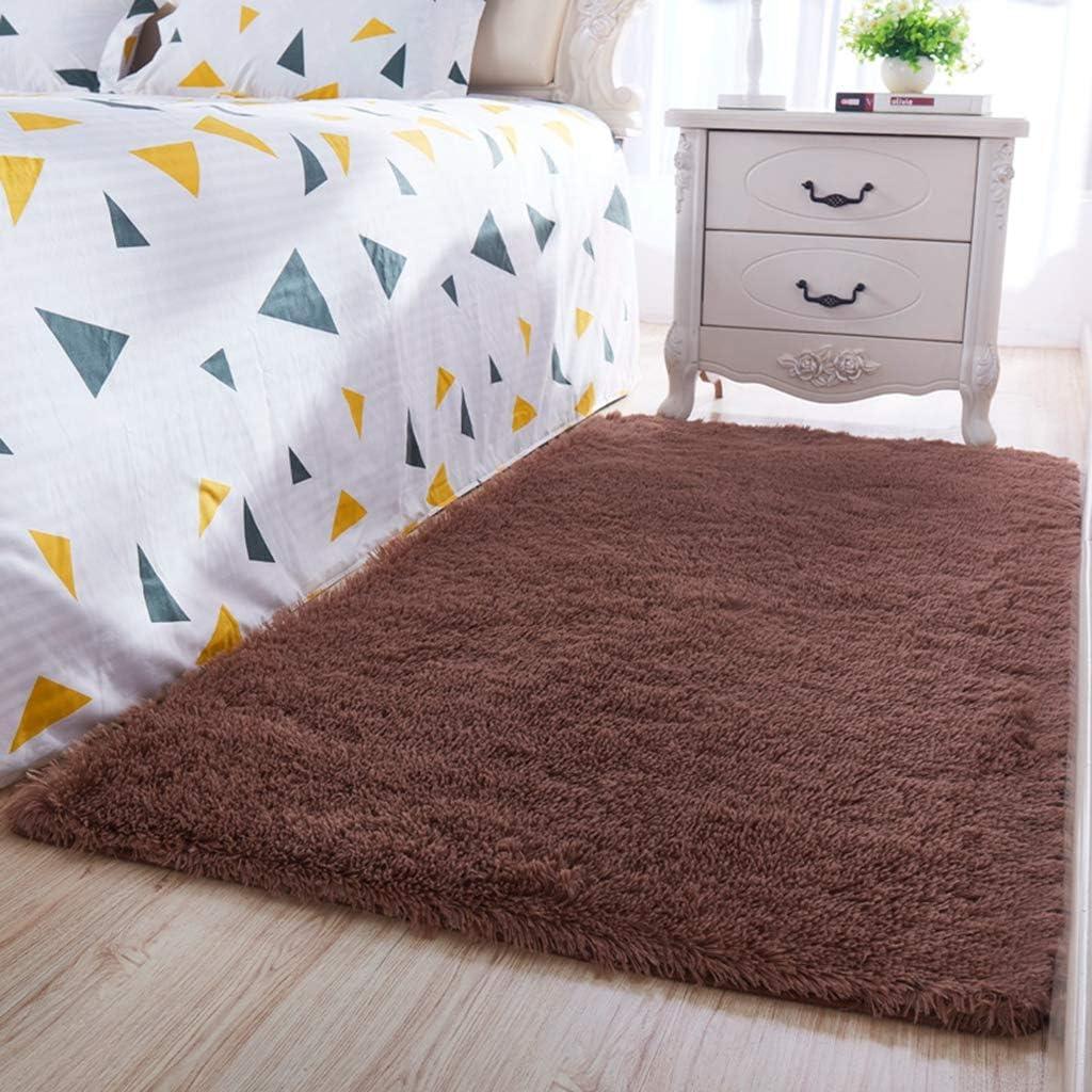 ラグマット かわいい ブラウン 3*4M シャギー 洗える 四季適用 防ダニ 抗菌 防臭 低反発 遮音 滑り止め ずれにくい 耐久性 厚手 手触りよく ホットカーペット対応 床暖房対応 床保護マット 絨毯 ベッドサイド