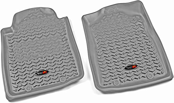 Automatic Rugged Ridge 84904.15 All Terrain Floor Liner Front 2012-2015 Toyota Tacoma Regular // Access // Double Cab Gray