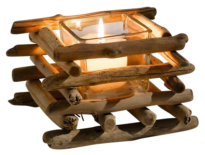 Driftwood Tealight Holder Frank