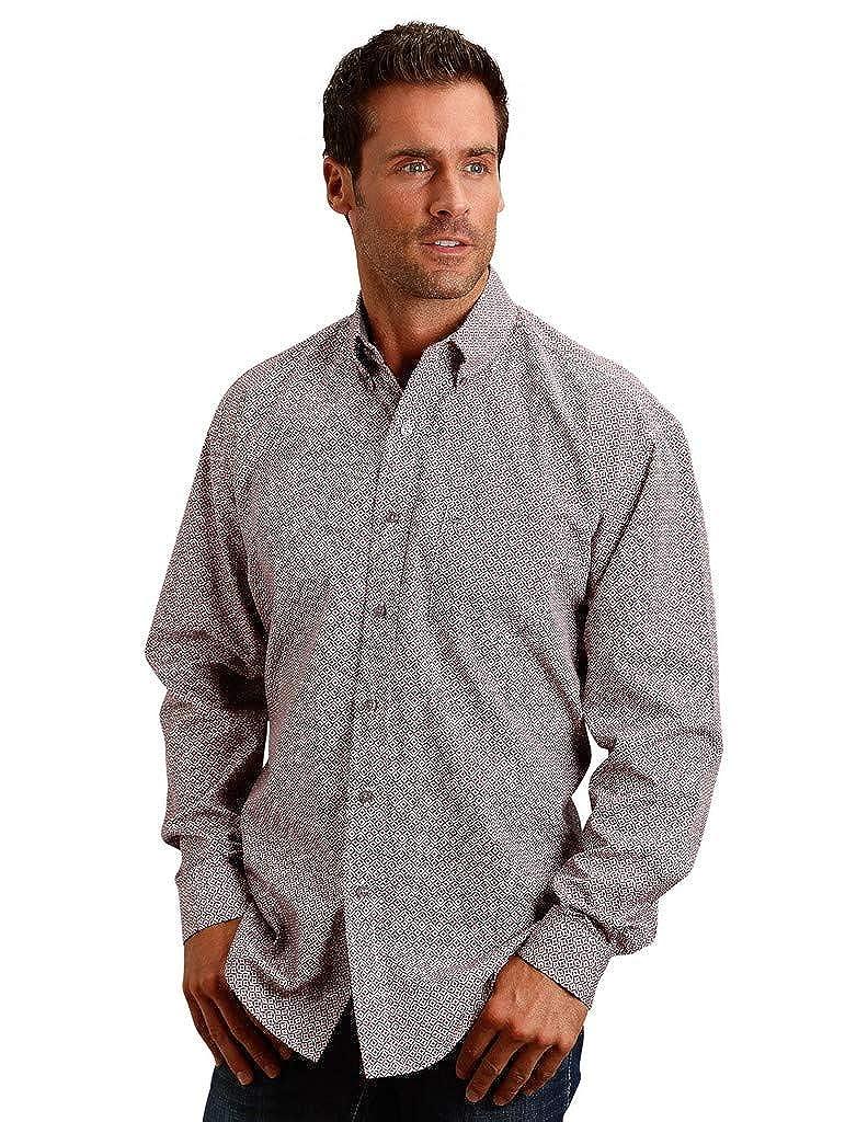 Stetson Western Shirt Men L//S Print Button Red 11-001-0526-0411 RE