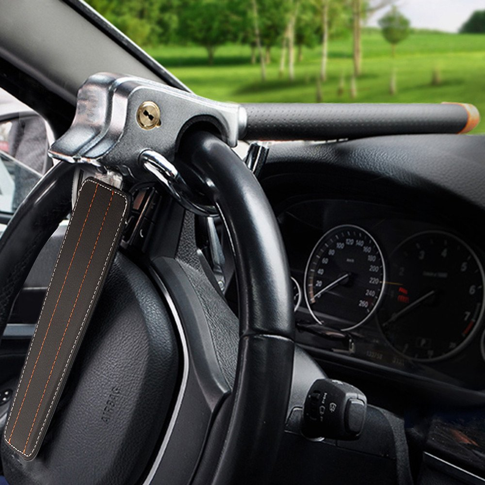 Camiones Ligeros Furgonetas y todoterrenos. Ajuste Universal para Coches Dispositivo de Bloqueo antirrobo Martillo de Seguridad Bloqueo antirrobo para Volante Beikal