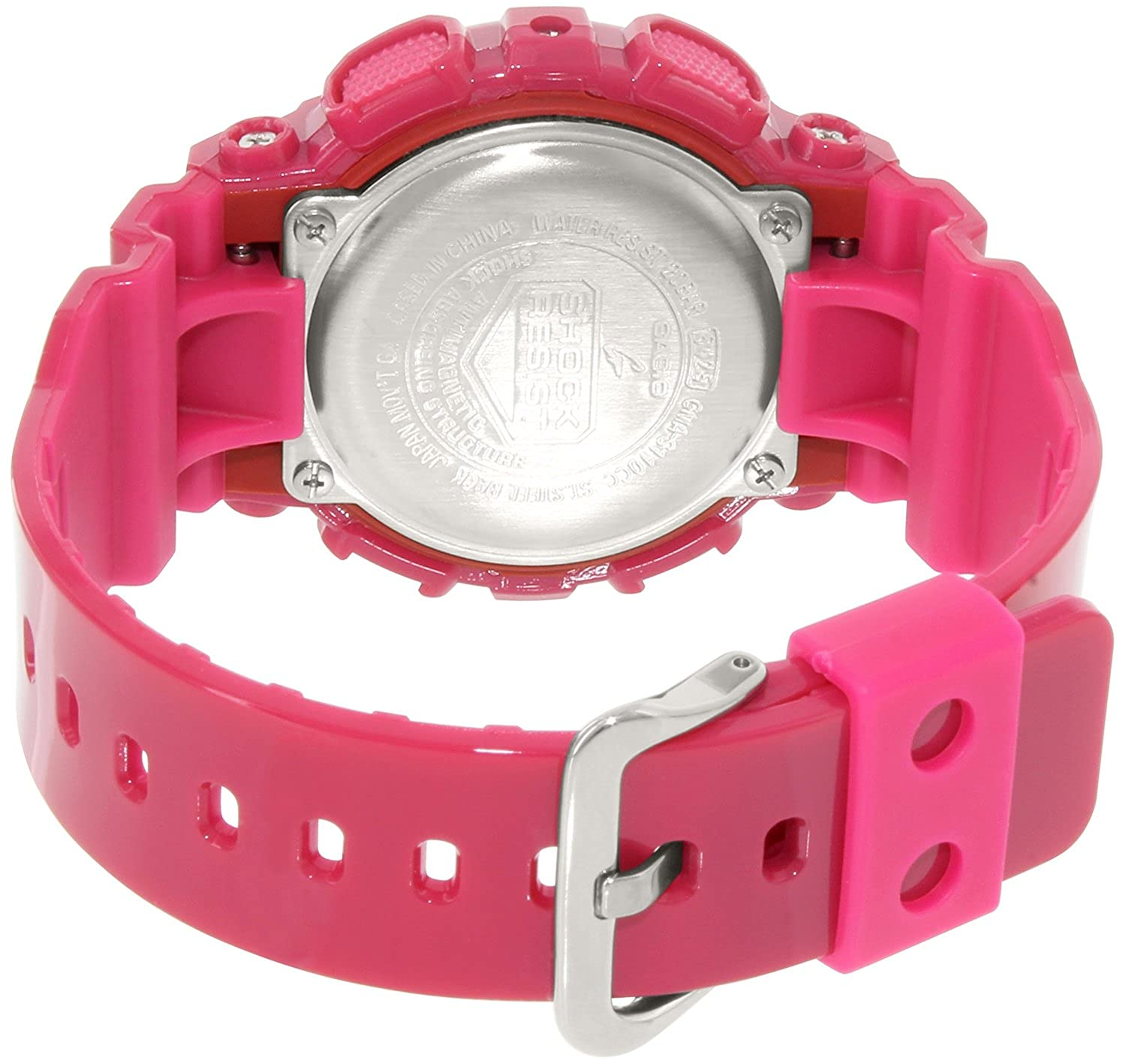 womens resin watches watch baby pink transparent digital face itm semi suni g casio