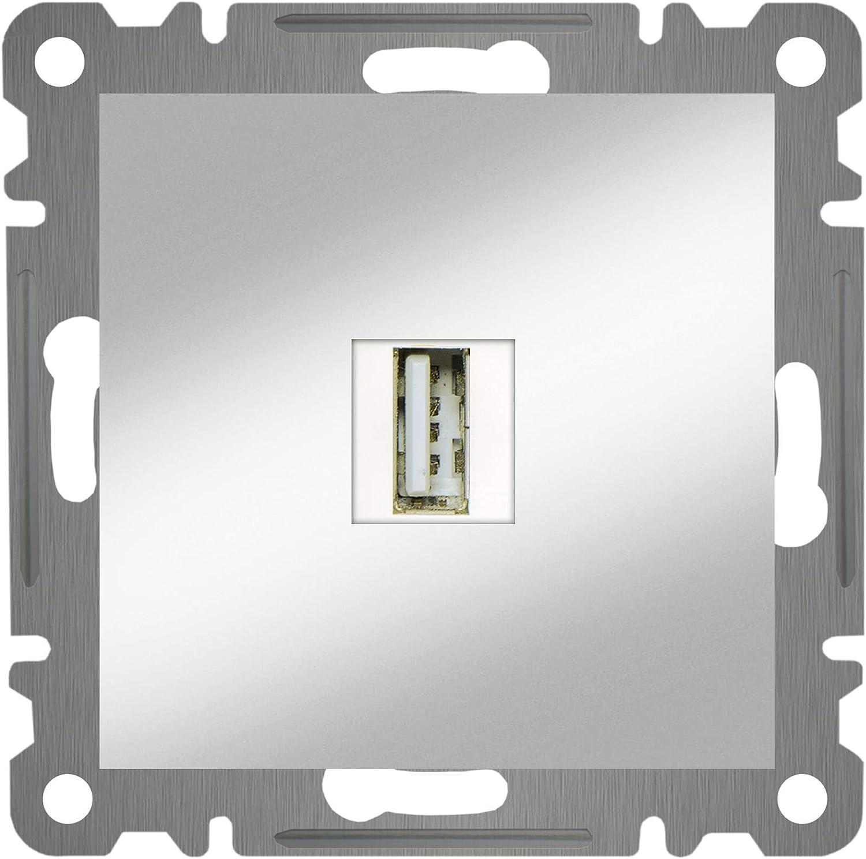 MAKEL 57065461 Karea USB Connection Socket Metal Silver
