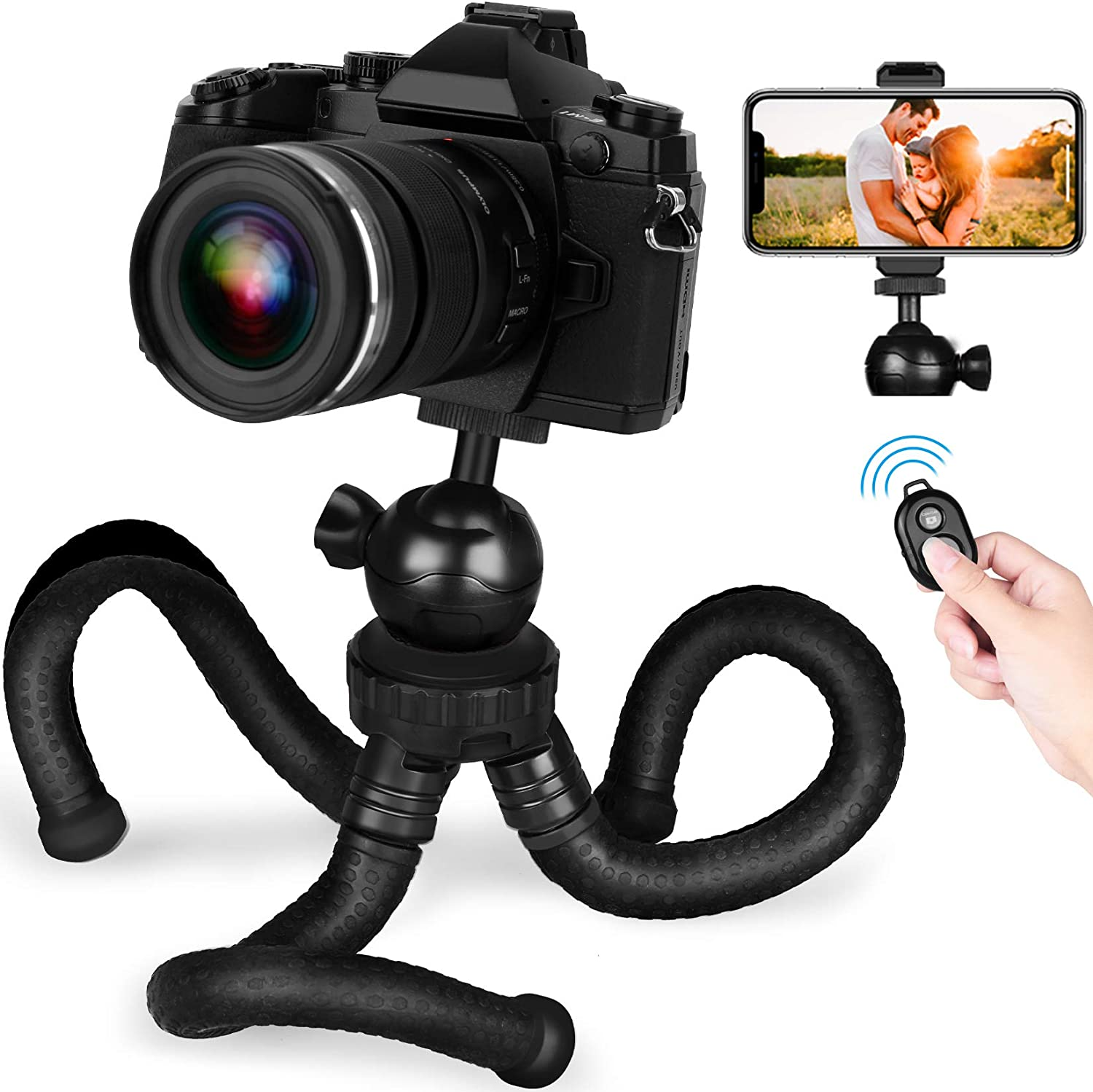 3kg Durable 24.5-57cm Adjustable Height Load Max GuiPing Pocket Mini Microspur Photos Magnesium Alloy Tripod Mount with 360 Degree Ball Head for DSLR /& Digital Camera
