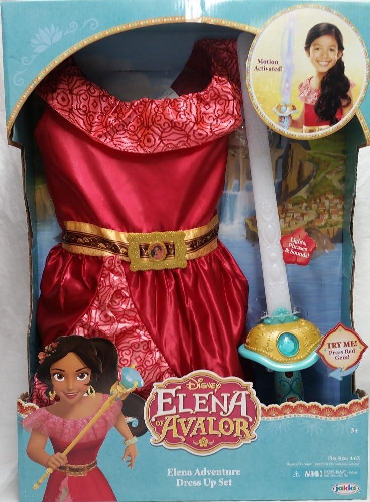 Disney Elena of Avalor Adventure Deluxe Girls size S 4//6X Dress Costume Disguise