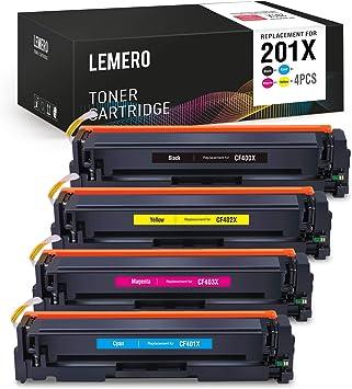 4PK High Yield Toner CF400X 201X Black Color Set For HP Laserjet Pro M277dw M252