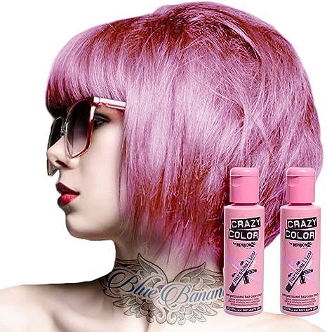 Tinte capilar semi-permanente de Crazy Color 100ml (Marshmallow Pink - rosa nube)