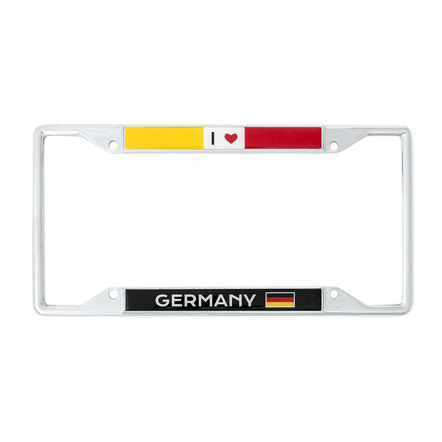 Desert Cactus Country of Germany I Heart Love License Plate Frame for Front Back of Car Vehicle Truck German