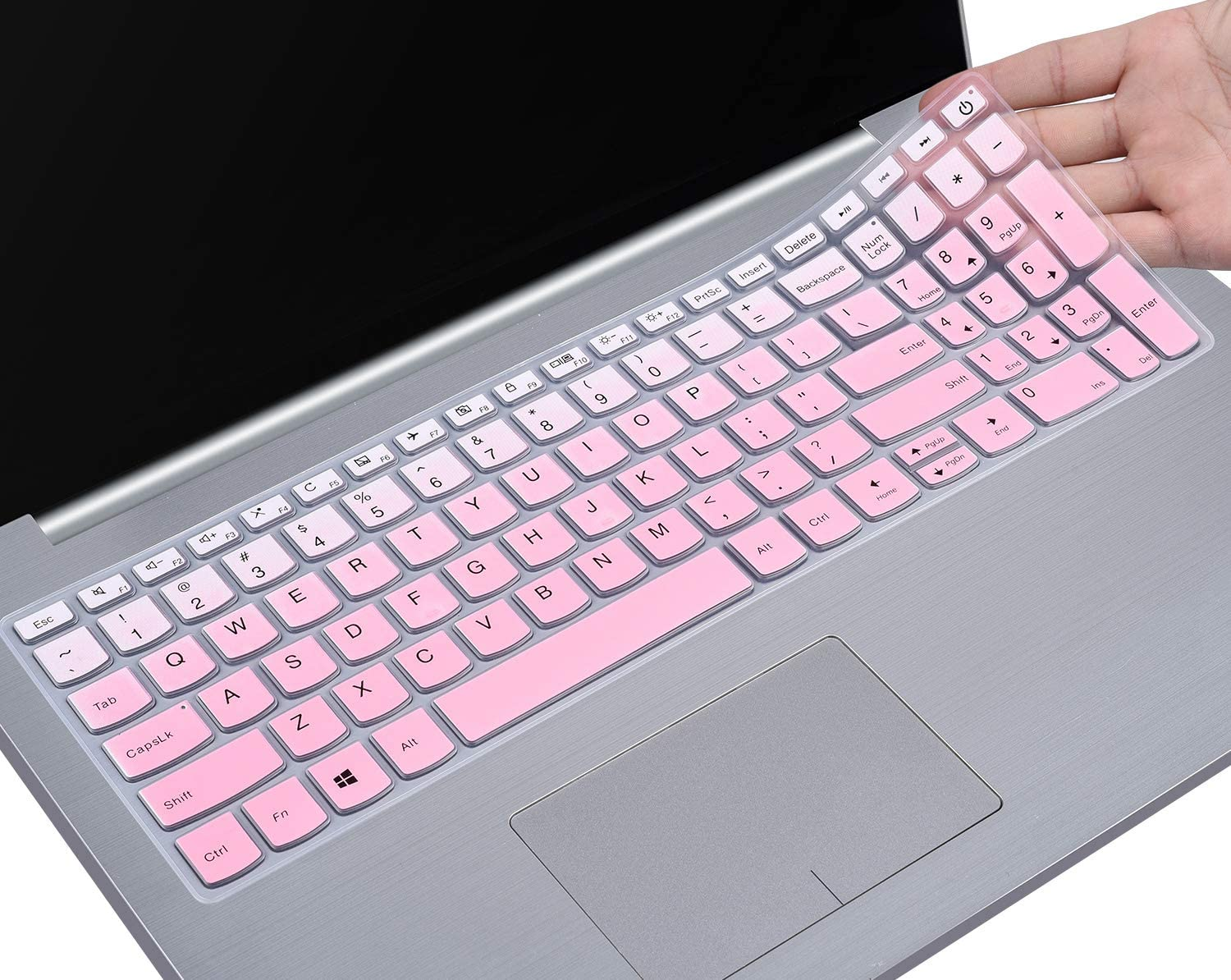 Keyboard Cover Compatible Lenovo IdeaPad 320 330 330s 340s 520 720s 130 S145 L340 S340 15.6 inch / 2019 2018 New Lenovo IdeaPad 15.6 / Lenovo IdeaPad 320 330 17.3 inch Laptop Skin, Gradual Pink