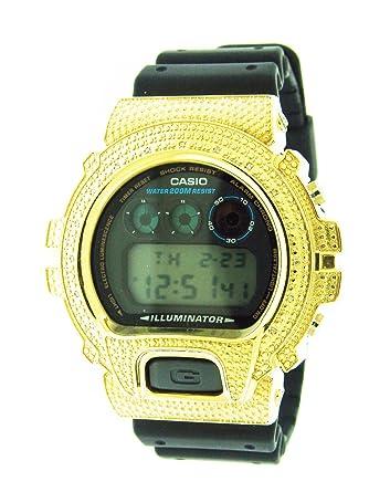 fb6eea02cb6d Amazon.com: Men Casio G Shock 15 Diamonds Black Face Watch 6900 Gold ...