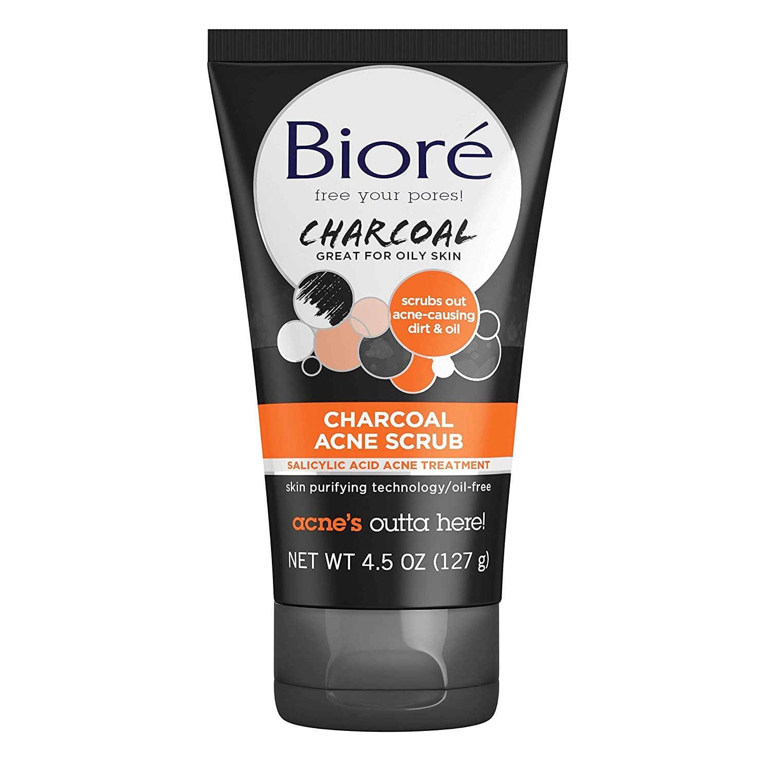 Amazon Com Biore Charcoal Acne Face Scrub 4 5 Ounce With 1
