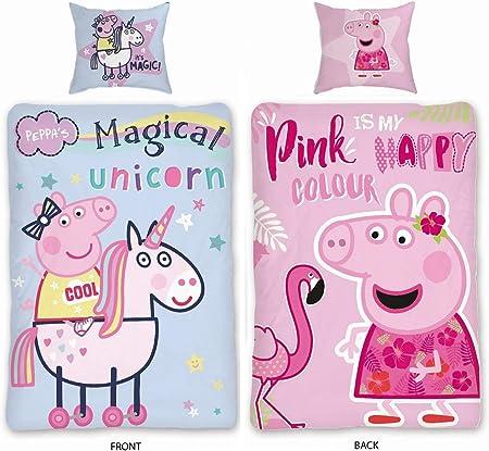 Sky Brands Peppa Pig Peppa Pig – Juego de funda nórdica tamaño 135 ...
