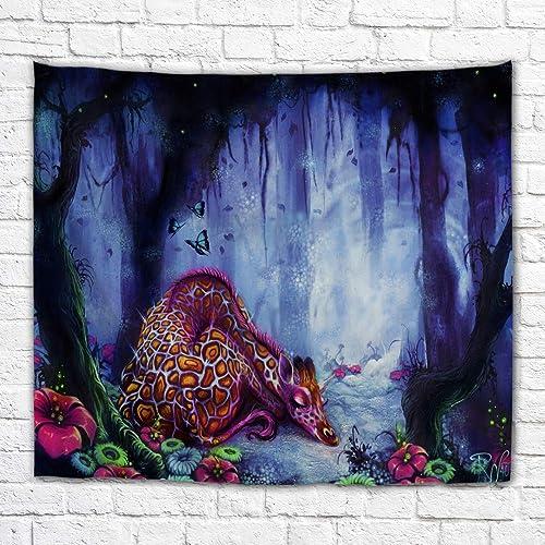 Imagination of Robert Walker Sleeping Giraffee Large Art Tapestry