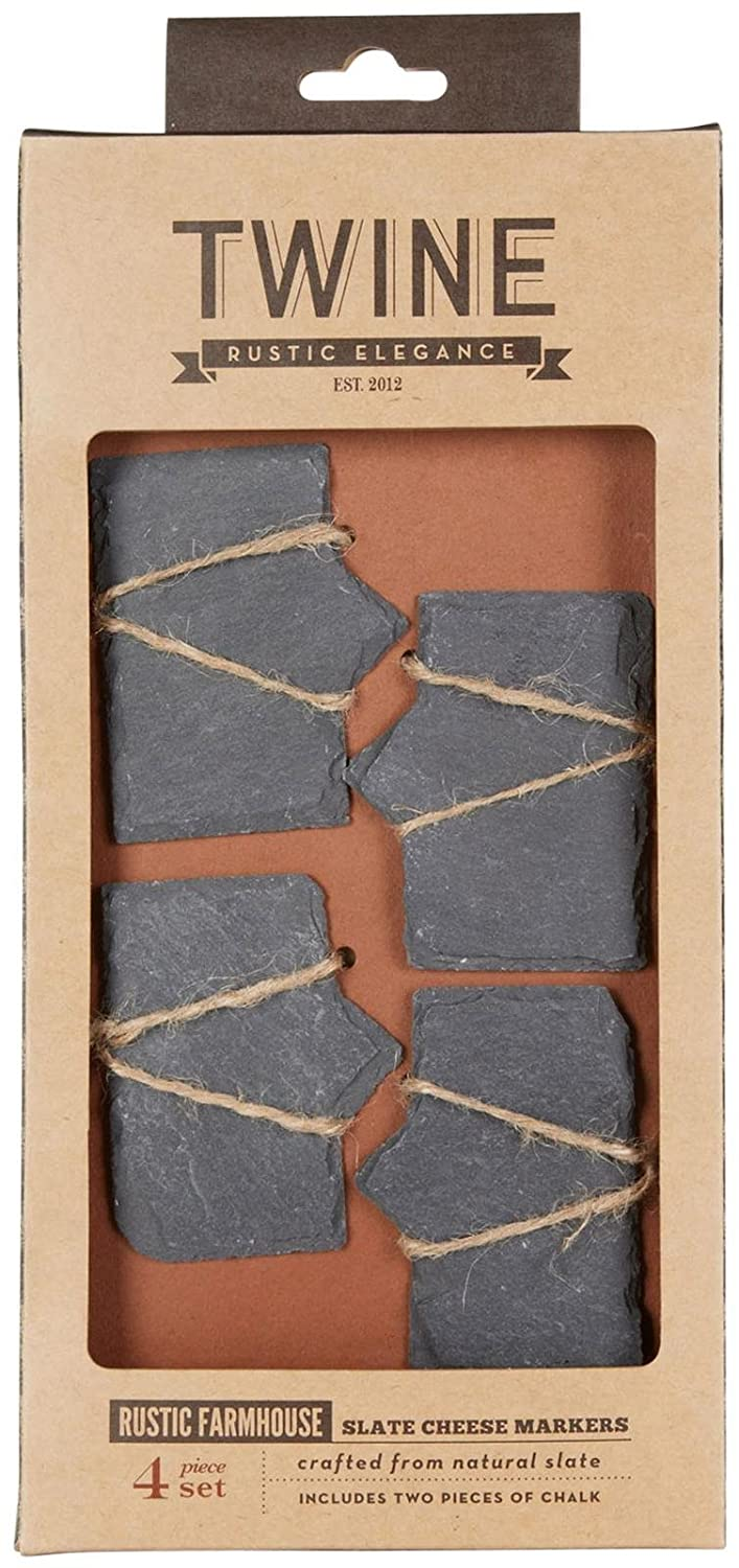 Rustic Farmhouse Slate Cheese Markers by Twine True Fabrications 3708