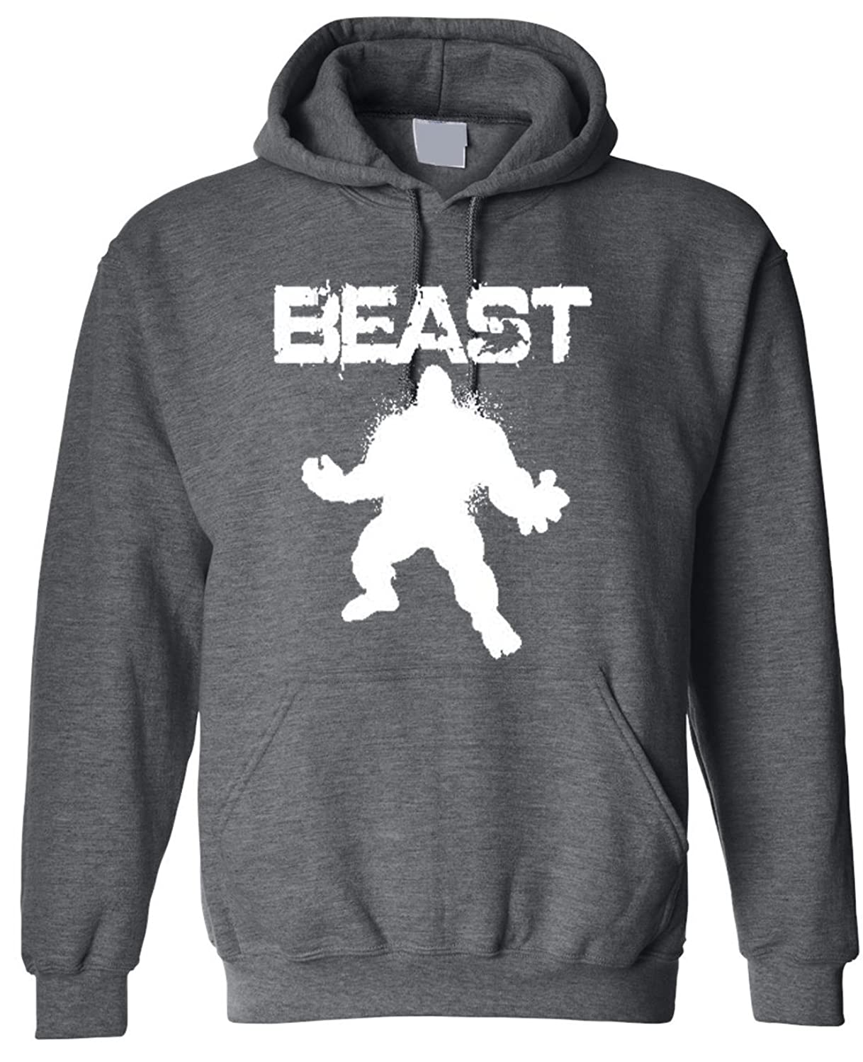 e699d9ac337 durable modeling Adult Beast Guy Workout Hoodie Hooded Sweater ...