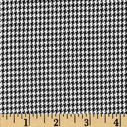Robert Kaufman Kaufman Yarn Dyed Houndstooth Shirting Black Poplin Fabric By The Yard - Houndstooth Woven Shirt