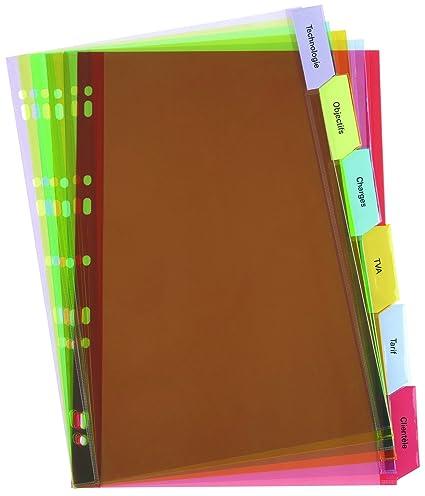ELBA - Separador para archivadores (Pack de 6)