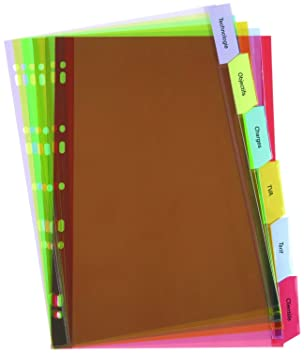 ELBA - Separador para archivadores (Pack de 6): Amazon.es: Oficina y papelería